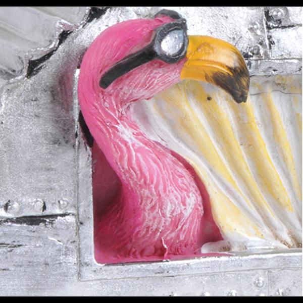 Linnunpönttö Flamingo pinkki matkailuvaunu