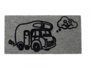 harmaa matkailuauto kynnysmatto caravan
