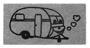 Kynnysmatto matkailuvaunu 60x40cm harmaa